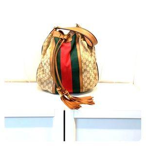GUCCI Rania Shoulder Bag Web GG Canvas